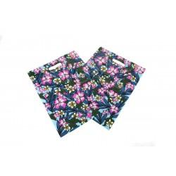Bolsas de plástico con asa troquelada estampado floral 35x45cm