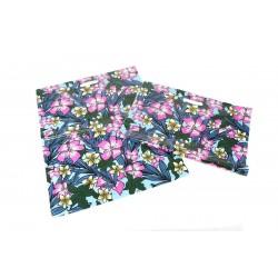 Bolsas de plástico asa troquelada estampado floral 50x60cm