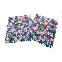 Bolsas de plástico con asa troquelada estampado floral 50x60cm